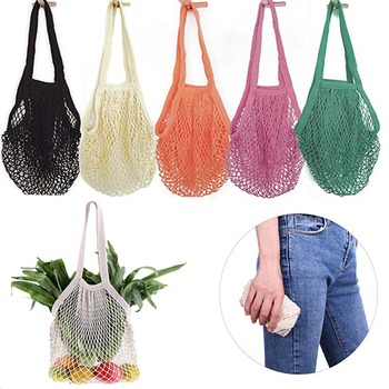 Eco Friendly Woven Mesh Bag Shopping Shopping Storage Bag Ecology Reusable Grocery Shopper Portable Cotton Portable Mesh Durable 1