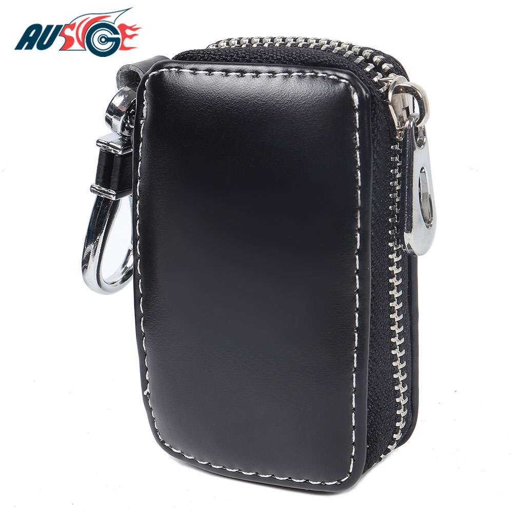 Leather Smart Car Key Remote Cover Protector Case Holder For Peugeot 307 206 308 407 207 406 208 2008 3008 508 408 306 301 106