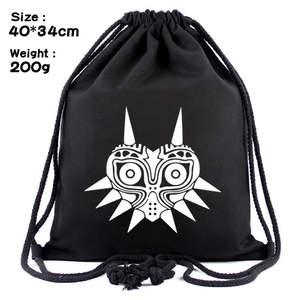 Drawstring Backpack Knapsack Casual-Bags Anime New Unisex Zelda Canvas Lism-Link