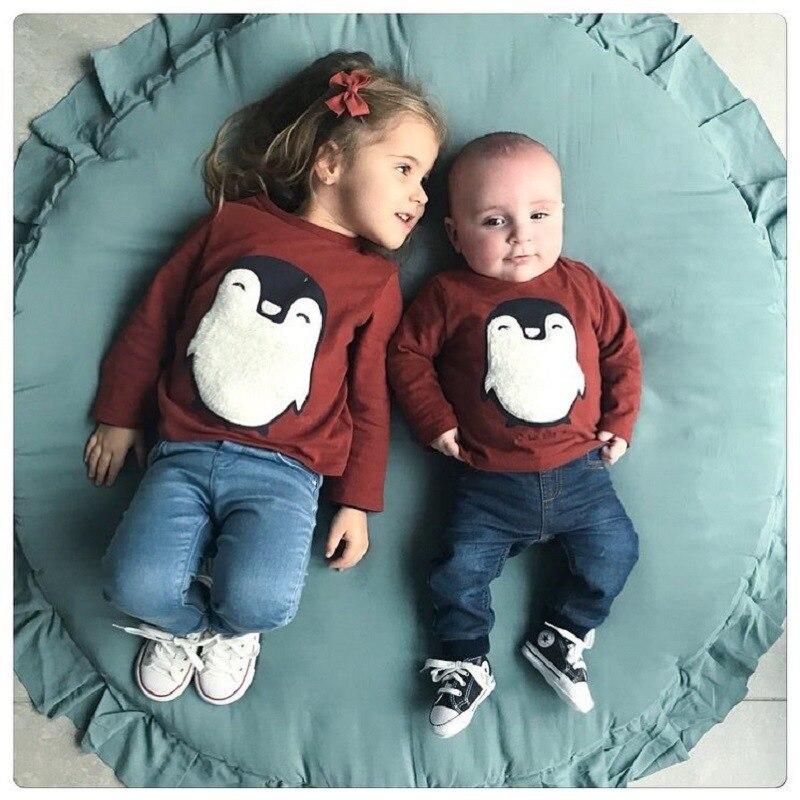 INS chaud style rond dentelle épaississement 2cm bébé ramper pad enfants maison tapis jouets