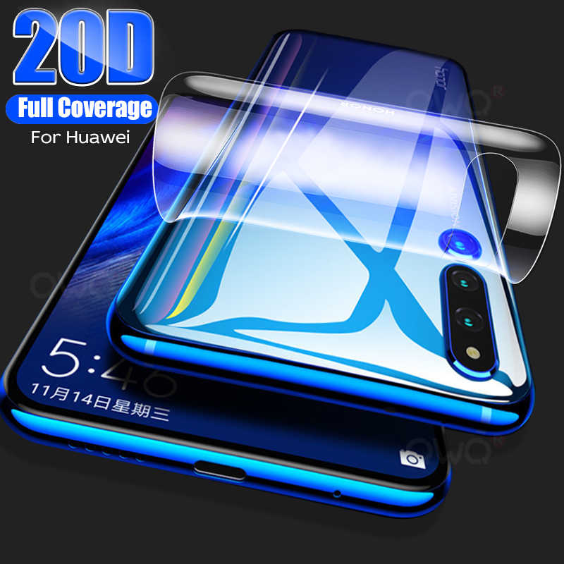20D Back Hydrogel Film For Huawei P30 Mate 20 Pro P20 Lite P Smart 2019 Z Screen Protector For Mate 20 Lite Honor 9X Not Glass