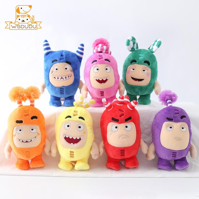 Kawaii Oddbods Fuse Bubbles Newt Pogo Slick Jeff Bubbles Zee Plush Stuffed Toys Cute Cartoon Anime Dolls Soft Pillow Kids Gifts