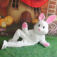 New Halloween Easter Bunny Mascot Costume Suits Adult Cosplay Party Game Dress Outfits Clothing Advertising Carnival Christmas