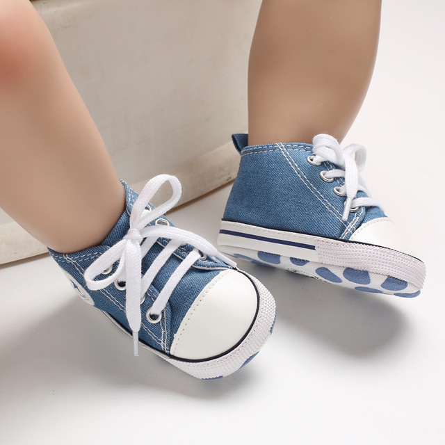New Canvas Baby Sports Sneakers Shoes Newborn Baby Boys Girls First Walkers Shoes Infant Toddler Soft Sole Anti-slip Baby Shoes | Happy Baby Mama