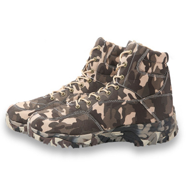 Outdoor Hiking Shoes Men Military Tactical Boots Autumn Camo Camping Trekking Boot Climbing Non-slip Wear-resistant Hiking Shoes 5