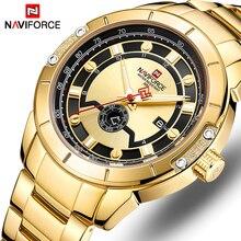 цена New NAVIFORCE Mens Watches Top Luxury Brand Men Full Steel Quartz Watch Analog Waterproof Sports Army Military WristWatch онлайн в 2017 году