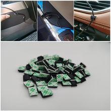 40pcs Car Wire Clip Stickers for Volkswagen VW Golf 4 6 7 GTI Tiguan Passat B5 B6 B7 CC