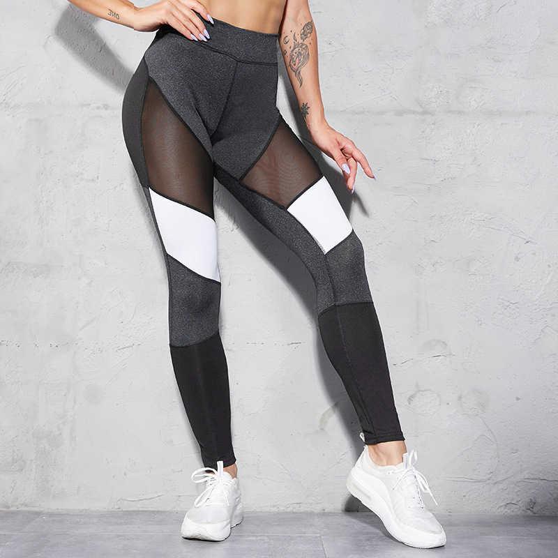 กางเกงกีฬาผู้หญิงกางเกงโยคะการบีบอัดกีฬาสวมใส่ผู้หญิง GYM Colorvalue Leggings เอว Energy Seamless ฟิตเนส 2019