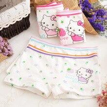 4pcs/lot 2018new fashion kids panties girls briefs female child underwear lovely cartoon children clothing  21cm-27cm