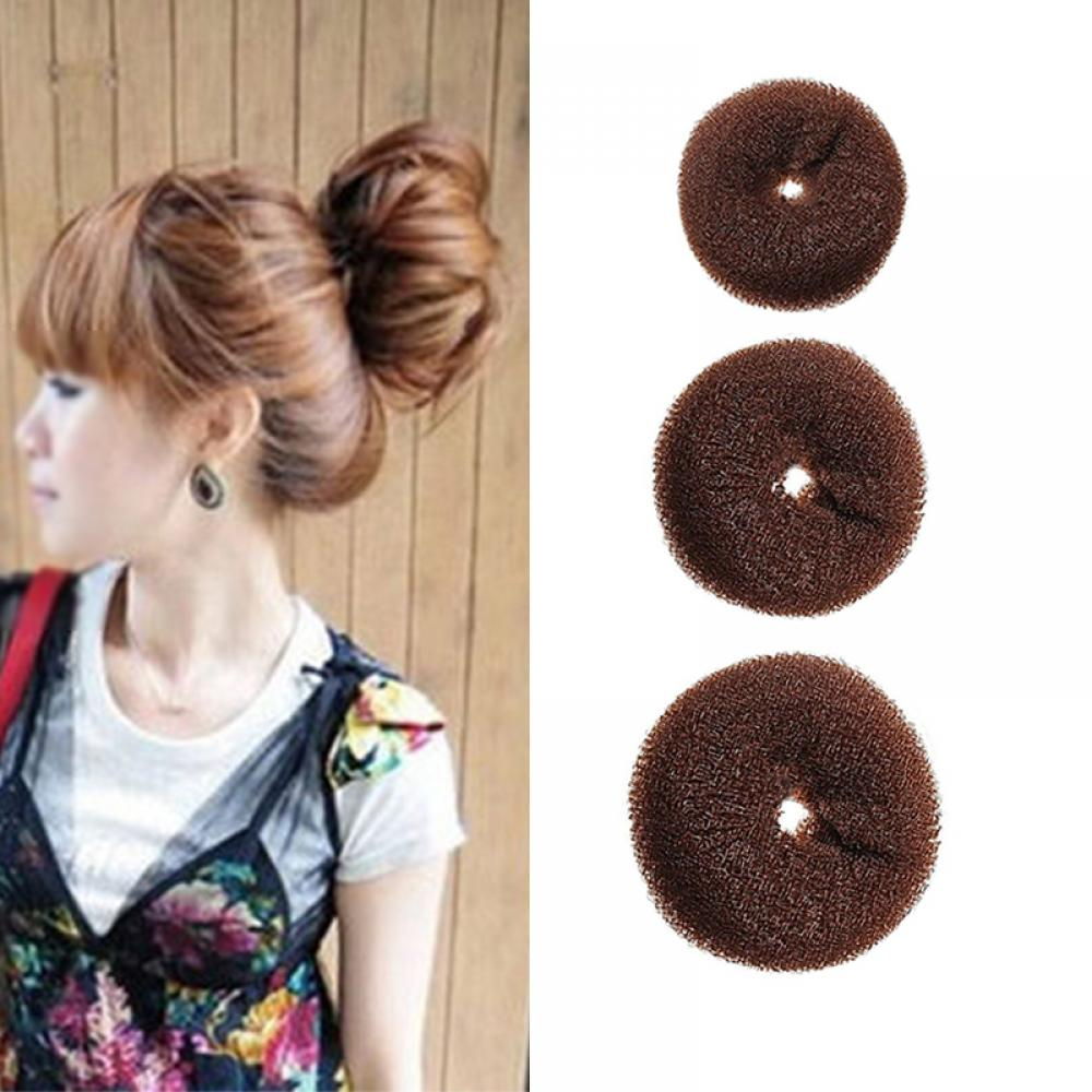 Magnificent Brown Novelty Updo Styling Doughnut Bun Ring Shaper Women Kids Schematic Wiring Diagrams Amerangerunnerswayorg