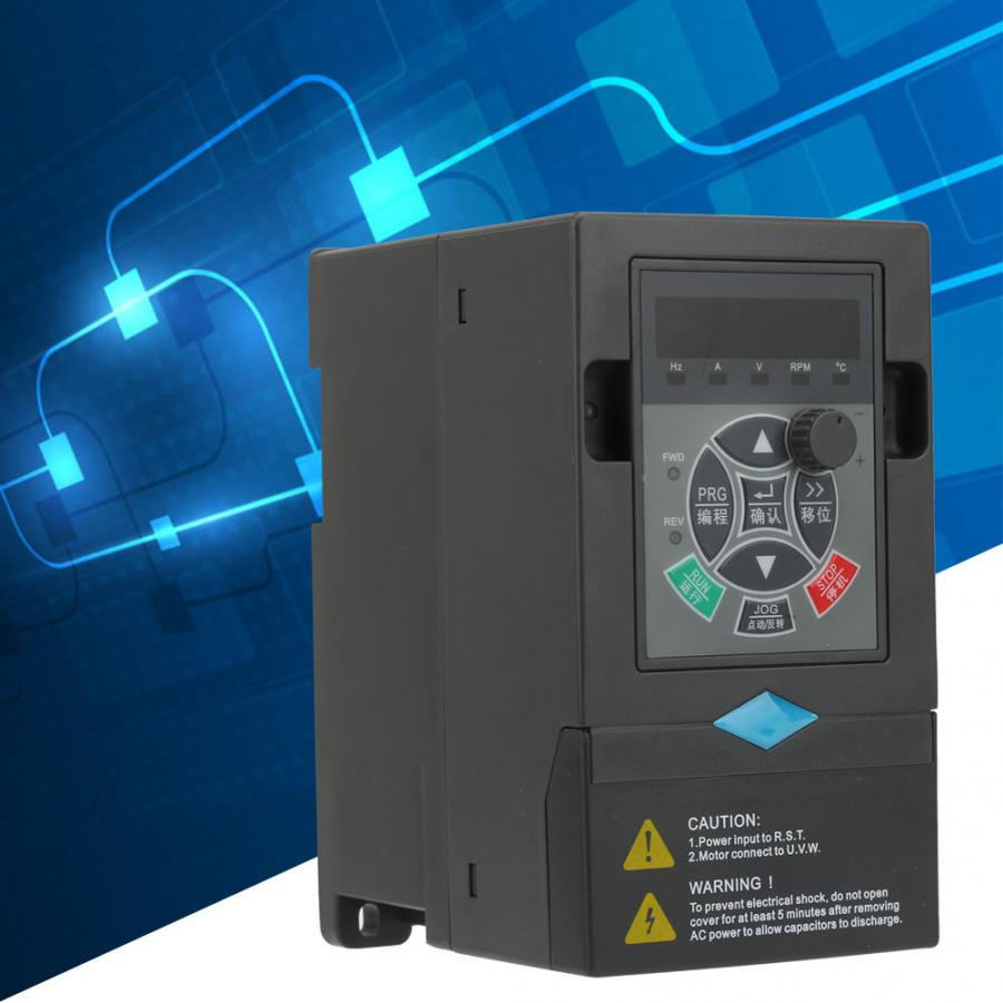 VFD Inverter 0.75KW Frequency Converter 220V 1 Input 3 Phase Output Variable Frequency Drive Inverter for CNC machine