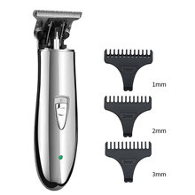T9 Barber trimmer Cordless Hair Trimmer Hair Clipper USB Rechargeable Pro T-outline Electric Shaver for Men Haircut Machine(China)