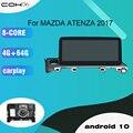Android 10 Octa Core 10,25 дюймов Tesla Car Stereo Multimidia 1Din автомобильное радио для MAZDA ATENZA 2017