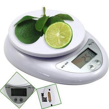 Básculas de cocina, 5kg, 5000g, 1g, Digital, cocina, alimentos, dieta Postal, báscula...