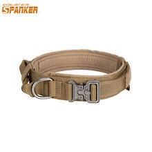 Uitstekende Elite Spanker Tactische Halsband K9 Nylon Verstelbare Training Halsband Metalen Gesp Withmetal Gesp Snelsluiting