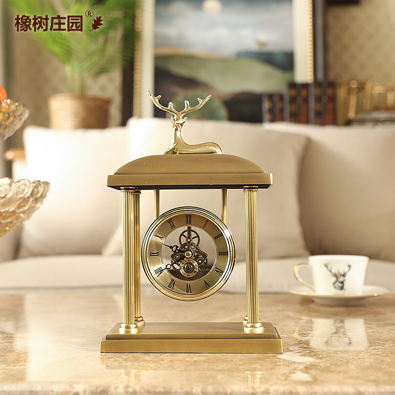 Métal numérique réveil or lit luxe grande voix réveil Design moderne Silence Relojes De Madera décor à la maison OO50AC - 4