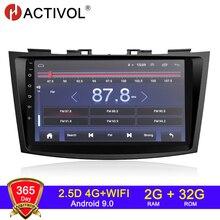 راديو سيارة 4G WIFI 2G 32G أندرويد 9.0 2 din لسيارة Suzuki Swift Ertiga 2005 2016 راديو سيارة