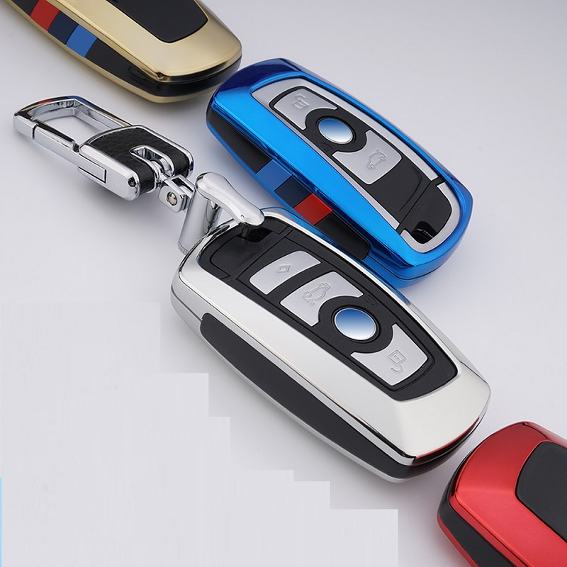 Car Key Case Cover for BMW 520 525 f30 f10 F18 118i 320i 1 3 5 7Series X3 X4 M3 M4 M5 E34 E90 E60 E36 FOB key chain Car Styling