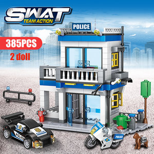 Image 4 - 746 pçs cidade polícia estação blocos de construção militar helicóptero swat ww2 carro equipe tijolos brinquedos educativos crianças