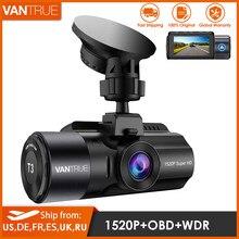 Venture t3 carro dvr traço cam 4k fhd 1520p gravação câmera do carro gps obd visão noturna wdr g-sensor de detecção de movimento dashcam