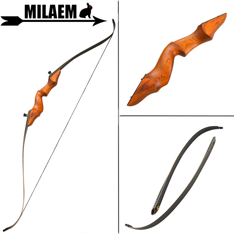 1pc 60inch 30 50lbs Archery Recurve Bow Takedown Hunting Bow Wooden Bow Riser Traditional Bow Wooden