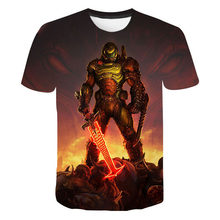 Shooting Game Doom Eternal 3D Printed T-shirt Men Women Fashion Short Sleeve T-shirt 2021 Casual Hip Hop Streetwear Tops Tee