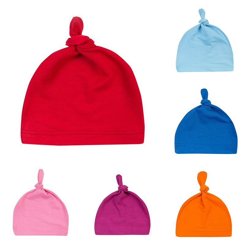 16 colors Baby Knot Cotton Hat Spring Autumn Toddler Beanies for Boys Girls Cap Winter Warm Solid Color Children Hat