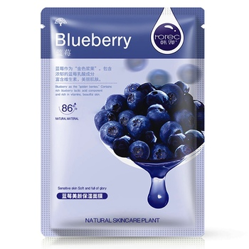 1 pcs blueberry sheet facial mask korean face mask mascara facial skin care  face masks  facemask  korean cosmetics