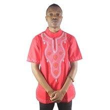 アフリカヴィンテージ刺繍男性のエスニックトップスサマーサイドスリット 結婚式のためのシャツ Dashiki