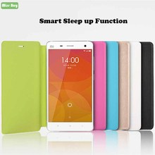 Leather Smart Phone Case for Xiaomi mi 5 Flip Cover Sleep up function Xiaomimi mi5 m5 Coque Stand