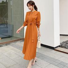 Autumn Long Sleeve Women Pleated dress 2019 New Slim Button OL Dress Eleagnt Party Female Lady Office Work Dresses