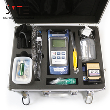 17 teile/satz FTTH Fiber Optic Tool Kit power meter Locator Stripper FC 6S Cleaver werkzeug schrank