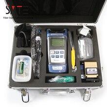 17pcs/set FTTH Fiber Optic Tool Kit power meter Locator Stripper FC 6S Cleaver tool cabinet