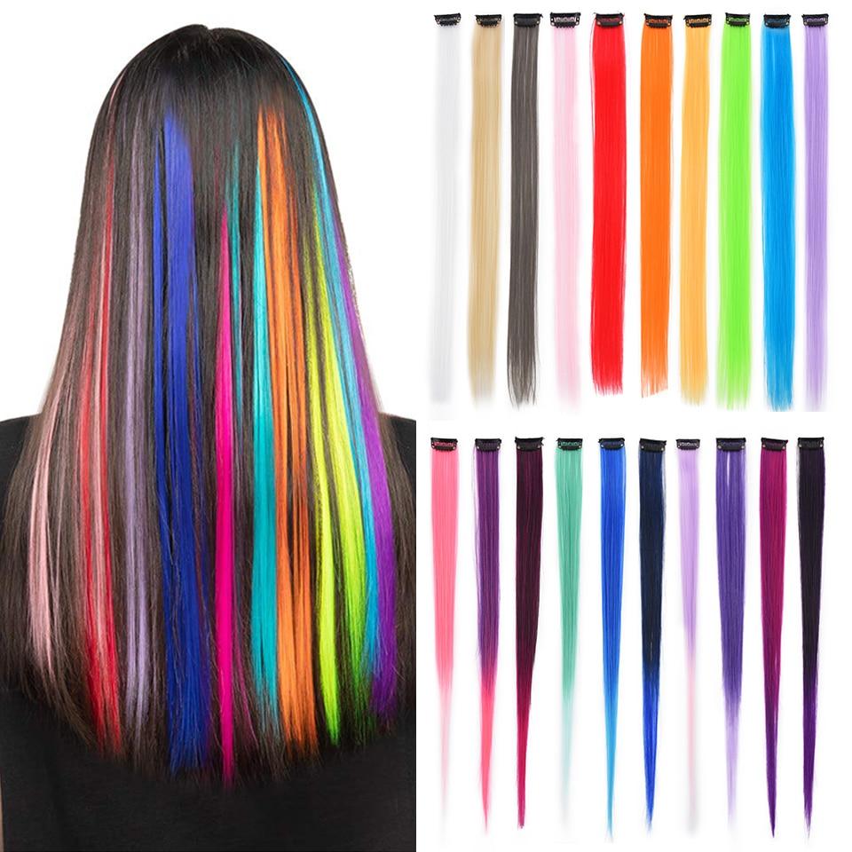 Синтетические волосы Одна деталь парик, заколки, заколки для волос для наращивания, волосы на полоска накладные волосы пряди Косплэй Инстру...
