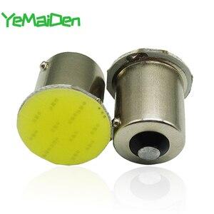 1x 1156 BA15S LED COB 12V 12 SMD 7000K 1157 BAY15D COB LED Bulb Car Turn Signal Light Reverse Brake Parking Lamps White Red