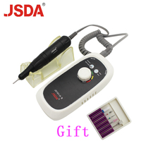JSDA Rechargeable 20W 30000RPM Electric Nail Drill Machine Acrylic Nail File Drill Manicure Pedicure Kit Nail Art Equipment