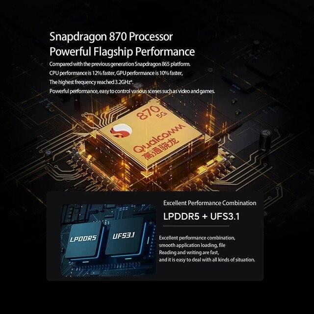 NEW 2021 Black Shark 4 5G Global Version Smartphones Snapdragon 870 8GB 128GB 144Hz AMOLED Display 3