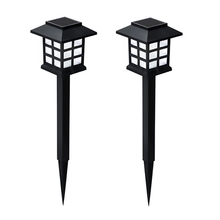лучшая цена 2Pcs Solar Power Pathway Light Garden Lights Lawn Lamp Outdoor Landscape Lamp for Lawn Patio Yard Walkway Driveway