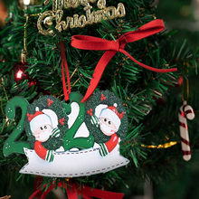 25# Personalized Survived Family Of Ornament 2020 Christmas Holiday Decorations Pendant Doll Hang Decorations For Noel Natal(China)