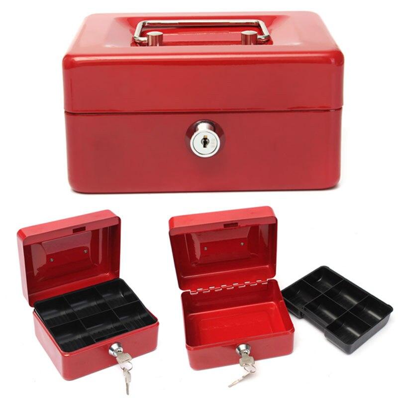 Практичный мини-ящик для мелких наличных денег, Блокируемый Сейф из нержавеющей стали, маленький, подходит для украшения дома, 3 размера