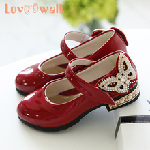 Loveewalk Shoes Girls Princess Patent Leather Shoes Low Heel