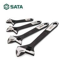 Chave ajustável de abertura grande da ferramenta de 1pc sata com punho longo  chave inglesa resistente 47122-47125