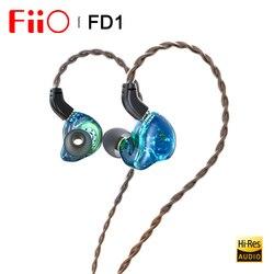 Fiio FD1 Beryllium-plated dynamic driver In-ear Наушники IEM с разъемами 2Pin 0,78 мм съемный кабель сильные басы