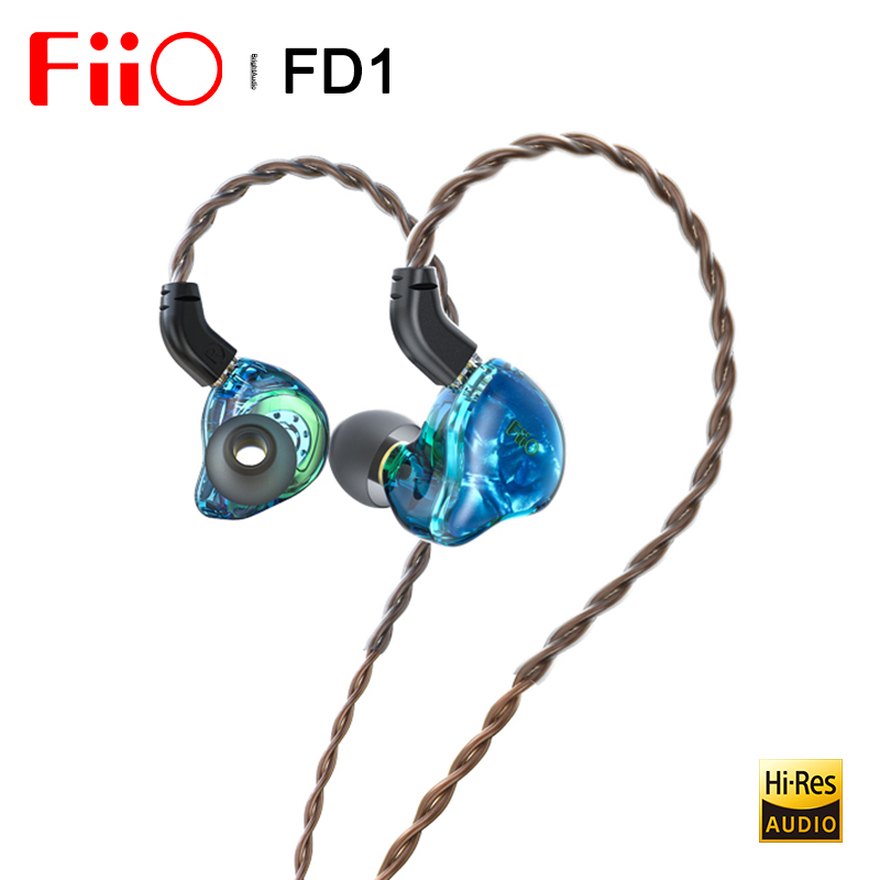 Fiio FD1 Beryllium-plated dynamic driver In-ear Earphone IEM with 2Pin 0 78mm connectors Detachable Cable Strong bass