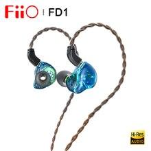 Fiio FD1 בריליום מצופה דינמי נהג ב אוזן אוזניות IEM עם 2Pin 0.78mm מחברים להסרה כבל חזק בס