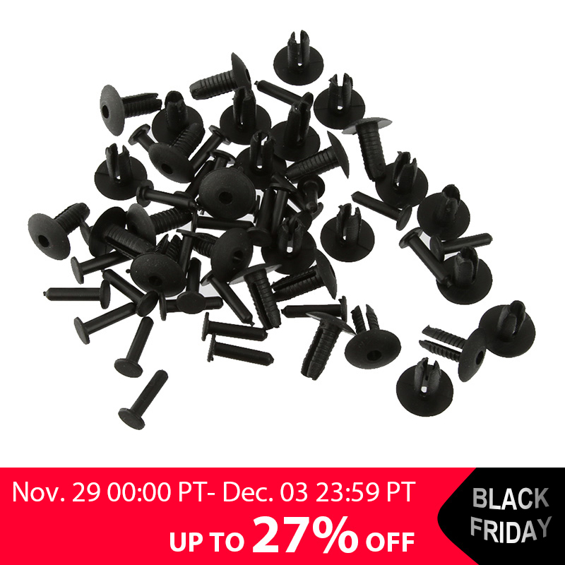 30x 6mm Plastic Push Bumper Mounting Rivet Body Trim Clip For BMW E30 E36 E46 E39 E38 Z1 Black Dropshipping