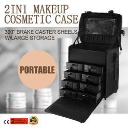 2 in 1 Makeup Case professional makeup bag cosmetic makeup bag velvet makeup bag holographic makeup bag unicorn makeup bag