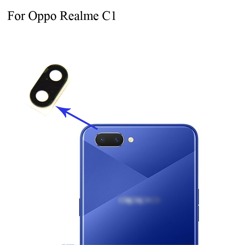 For OPPO Realme C1 Replacement Back Rear Camera Lens Glass Lens For OPPO Realme C 1 Phone Parts RealmeC1