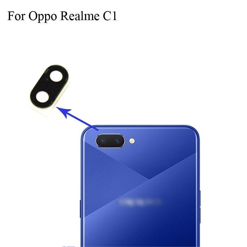 2PCS For OPPO Realme C1 Replacement Back Rear Camera Lens Glass Lens For OPPO Realme C 1 Phone Parts RealmeC1