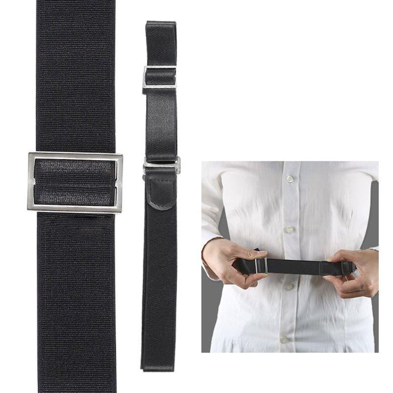 Men Shirt Stays Holder Black Lock Tuck It Belt Multifunctional Adjsutable Elastic Non-Slip Wrinkle Bandage Formal